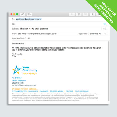 Email Signature example design